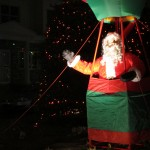 Santa in his hot air balloon