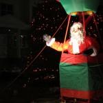Santa in his hot air balloon