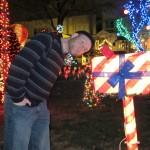 Eric checks for Christmas mail