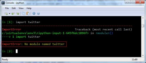 import via ipython