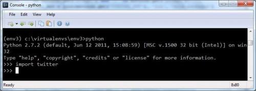 import via python